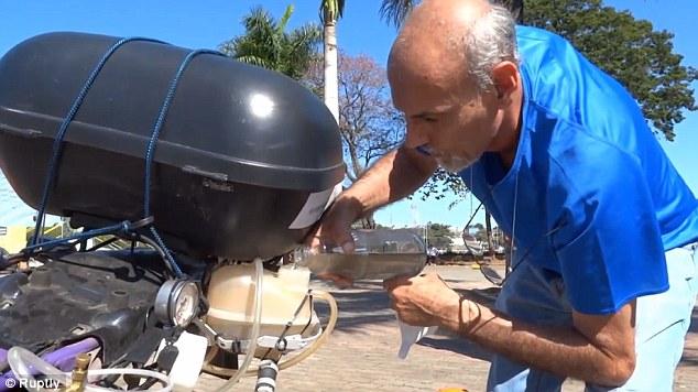 Ele inventou uma moto capaz de percorrer até 500Km com apenas 1 litro de água!!! - image 2