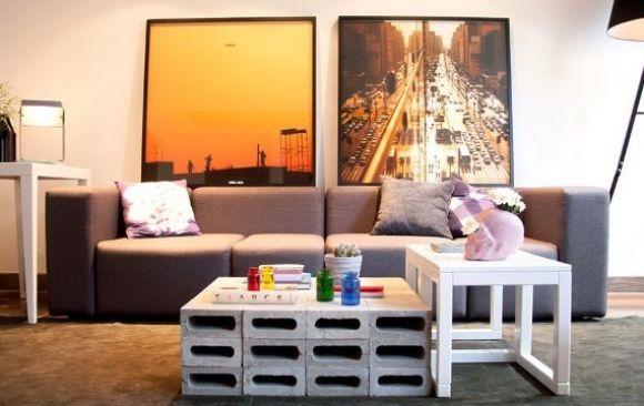 Como fazer decoração e móveis com blocos de cimento? - image 2