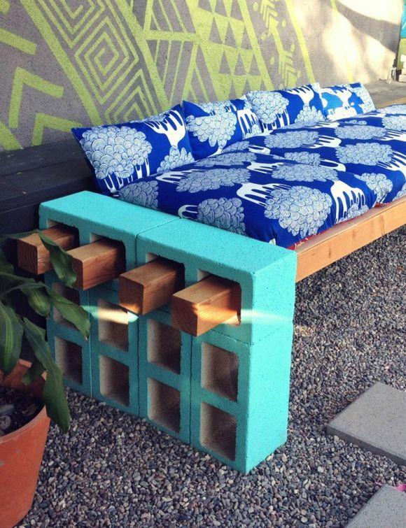 Como fazer decoração e móveis com blocos de cimento? - image 4